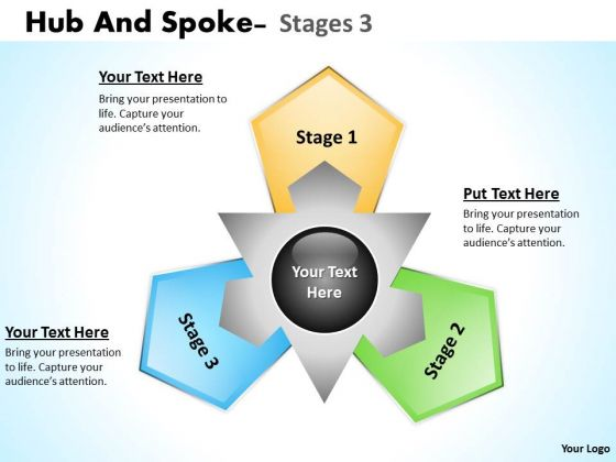 Strategic Management Hub And Spoke Stages 9 Business Diagram