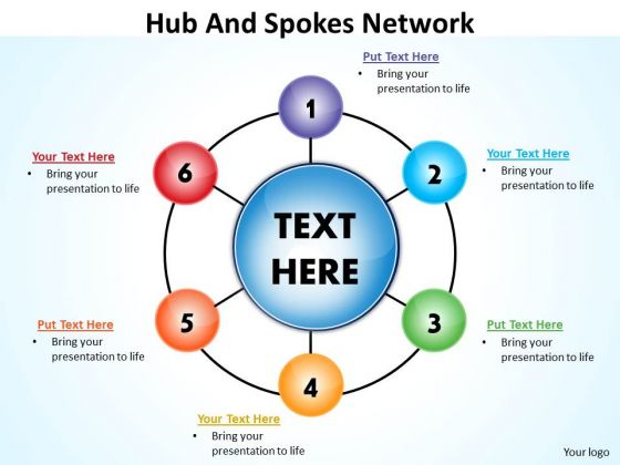 Strategic Management Hub And Spokes Network Business Diagram