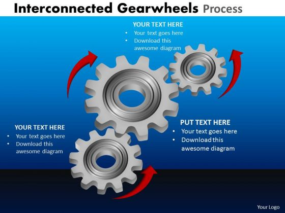 Strategic Management Interconnected Gearwheels Process Consulting Diagram