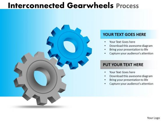 Strategic Management Interconnected Gearwheels Process Sales Diagram