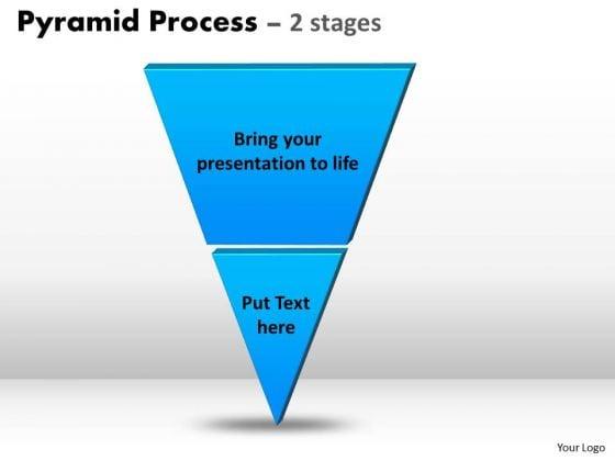 Strategic Management Inverted Pyramid Process Consulting Diagram