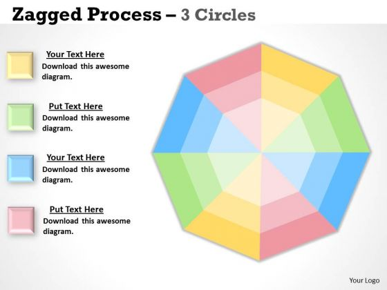 Strategic Management Jagged Process 3 Stages 4 Business Framework Model