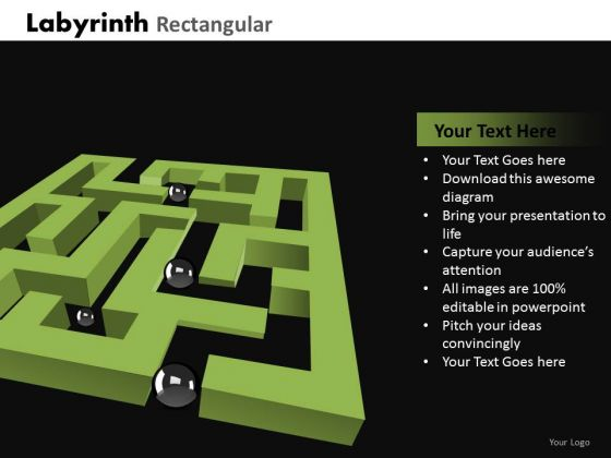 Strategic Management Labyrinth Rectangular Marketing Diagram