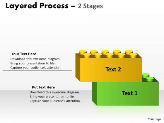 Strategic Management Layered Process Diagram 2 Stages Consulting Diagram
