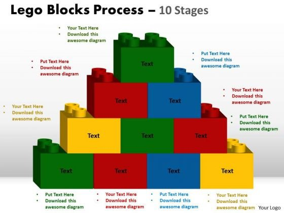 Strategic Management Lego Blocks Process 10 Stages Marketing Diagram