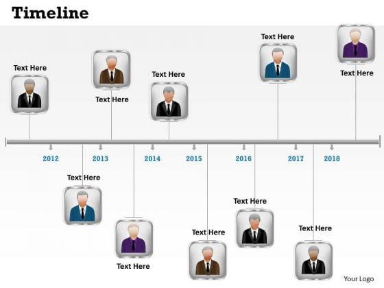 Strategic Management Linear Timeline Roadmap Business Process Diagram Sales Diagram
