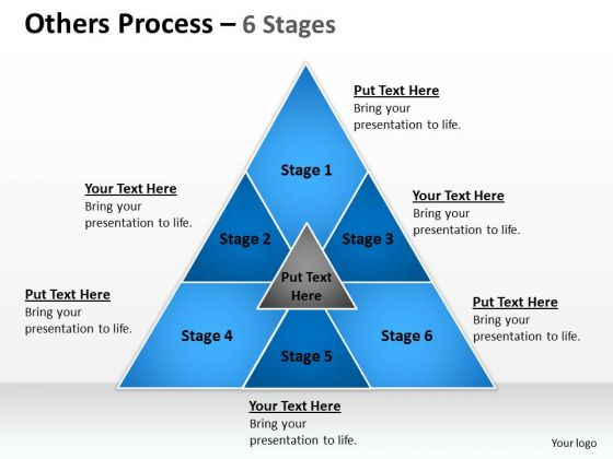 Strategic Management Others Process 6 Stages Sales Diagram