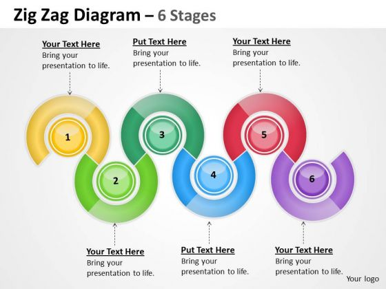 Strategic Management Oval Diagram 6 Stages Business Diagram