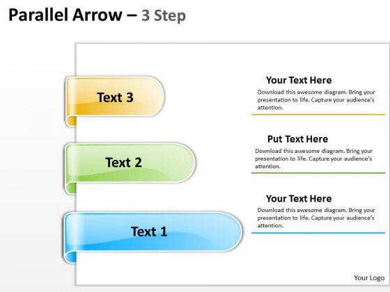 Strategic Management Parallel Arrow 3 Step Business Framework Model
