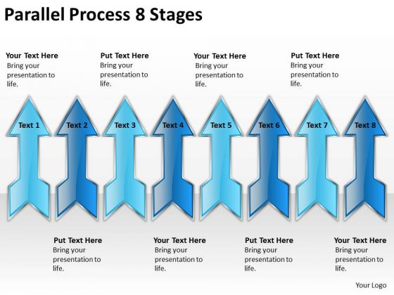 Strategic Management Parallel Process 8 Stages Consulting Diagram