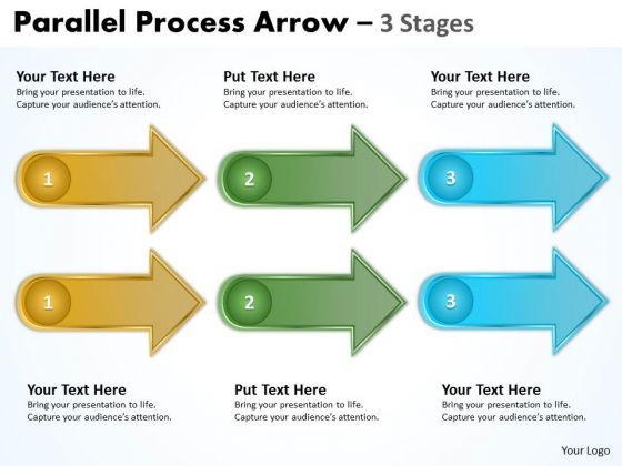 Strategic Management Parallel Process Stages Three Marketing Diagram