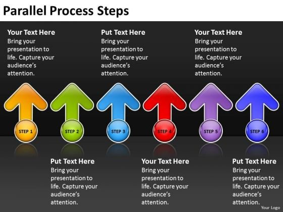 Strategic Management Parallel Process Steps Business Framework Model