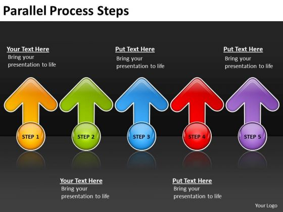 Strategic Management Parallel Process Steps Consulting Diagram
