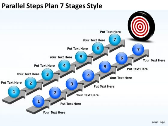 Strategic Management Parallel Steps Plan 7 Stages Style Business Framework Model