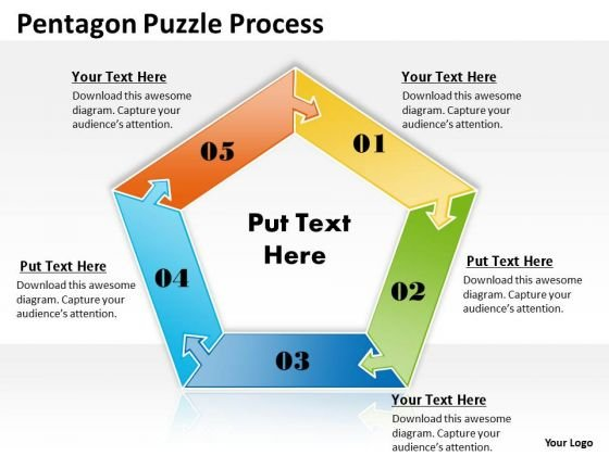 Strategic Management Pentagon Puzzle Process Consulting Diagram