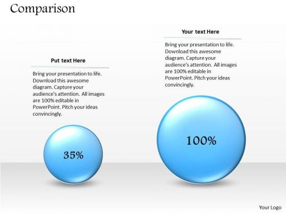Strategic Management Percentage Comparison Business Layout Business Diagram