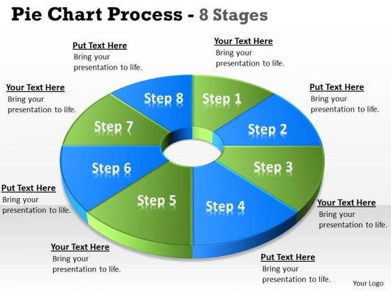 Strategic Management Pie Chart 8 Step Diagram Circular Business Diagram