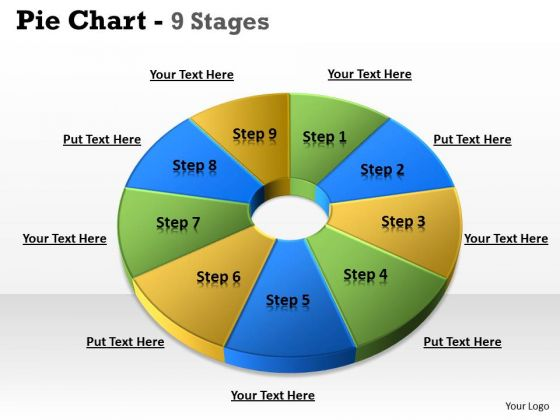 strategic_management_pie_chart_9_step_business_diagram_1