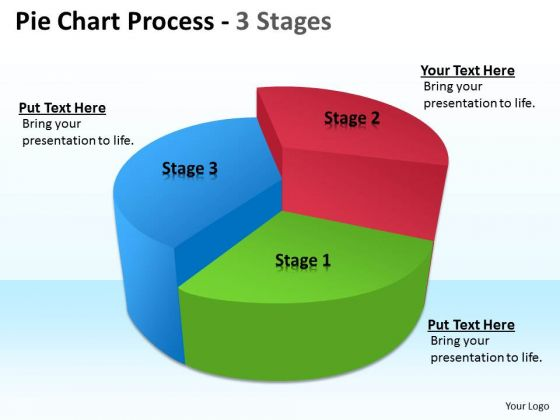 Strategic Management Pie Chart Process 3 Stages Consulting Diagram