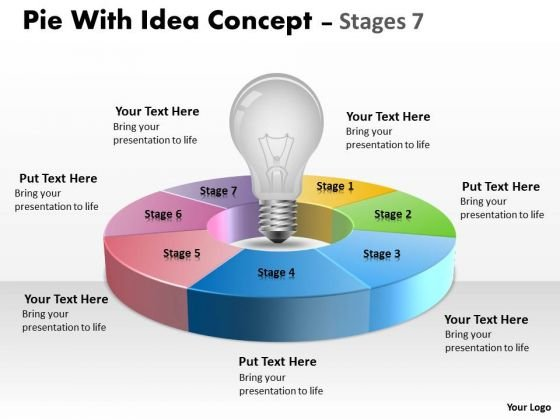Strategic Management Pie With Idea Concept Diagram Stages 7 Marketing Diagram
