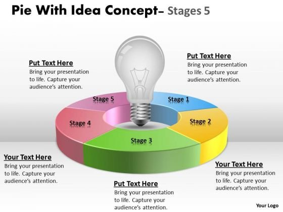Strategic Management Pie With Idea Concept Stages Strategy Diagram