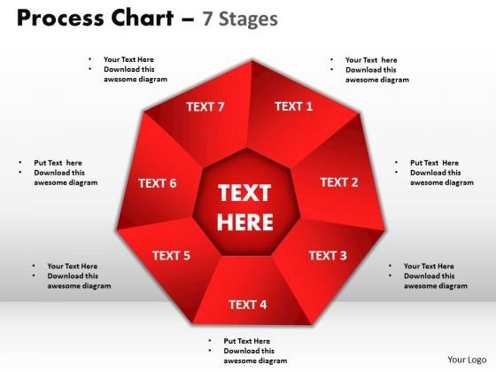 Strategic Management Process Chart 7 Stages Business Diagram