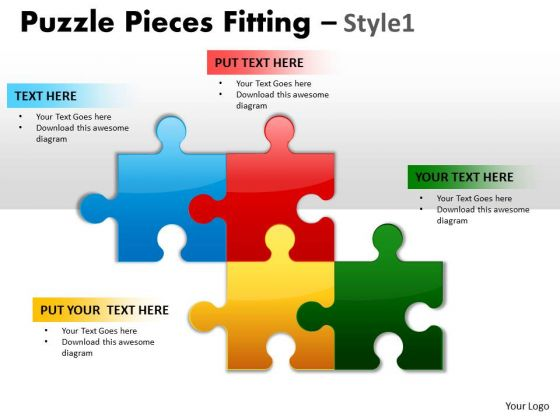 Strategic Management Puzzle Pieces Fitting Style 1 Business Diagram