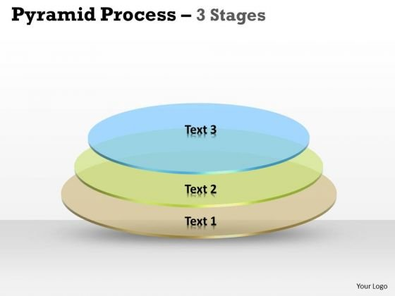 Strategic Management Pyramid Process 3 Stages Business Diagram