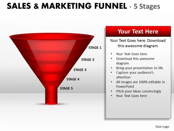 Strategic Management Red Colored Sales Marketing Funnel Diagram Business Diagram