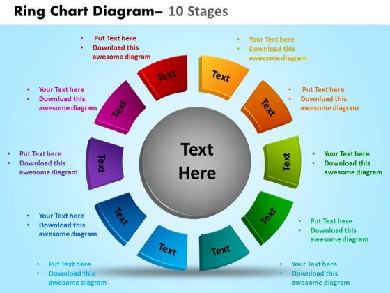 Strategic Management Ring Chart Diagram 10 Stages Sales Diagram