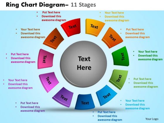 Strategic Management Ring Chart Diagram 11 Stages Business Diagram