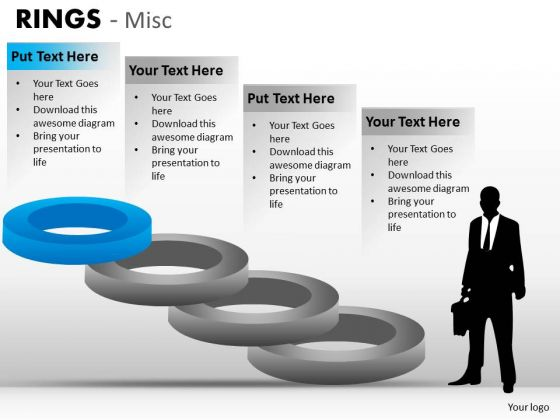 Strategic Management Rings Misc Business Cycle Diagram
