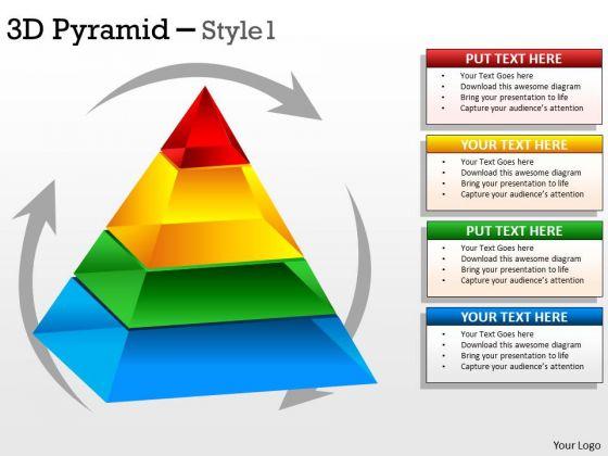 Strategic Management Rotational Design Triangle For Business Business Diagram