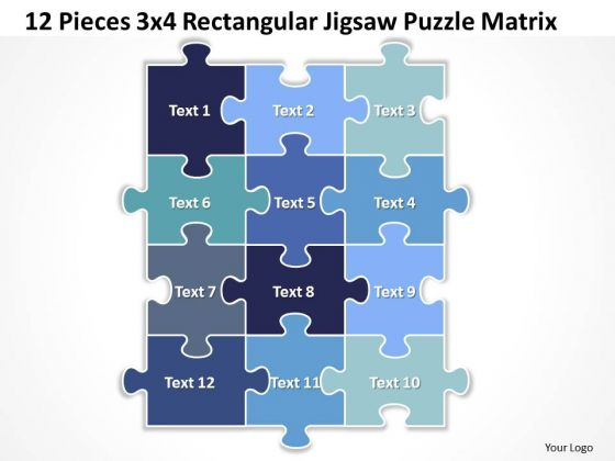 Strategic Management Sales Product 12 Pieces 3x4 Rectangular Jigsaw Puzzle Matrix Strategy Diagram