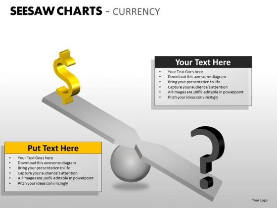 Strategic Management Seesaw Charts Currency Marketing Diagram