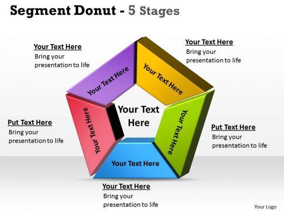 Strategic Management Segment Donut 5 Stages Consulting Diagram