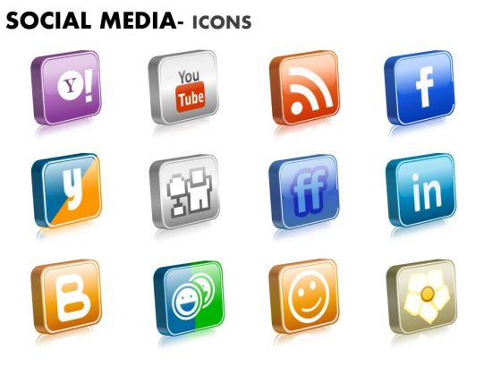 Strategic Management Social Media Icons Diagram Consulting Diagram