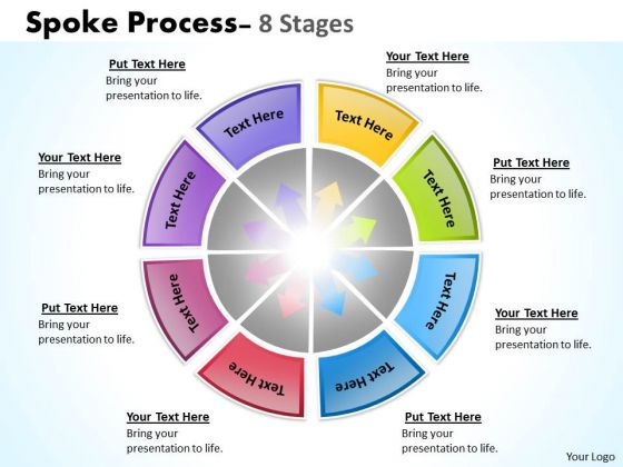 Strategic Management Spoke Process 8 Stages Business Diagram