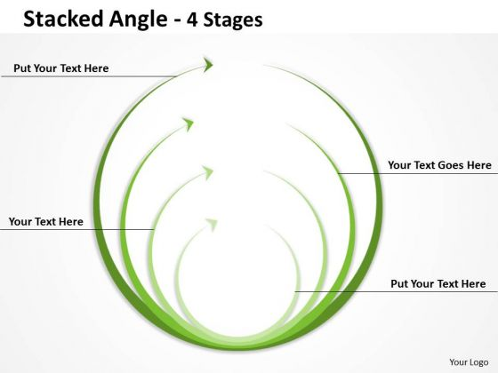 Strategic Management Stacked Angle Round Shape Consulting Diagram