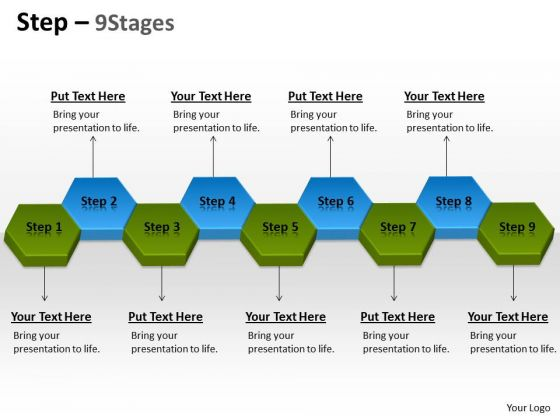 Strategic Management Step 9 Stages Business Diagram