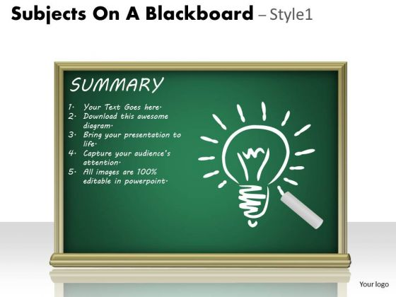 Strategic Management Subjects On A Blackboard Business Cycle Diagram