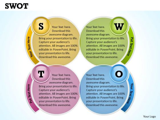 Strategic Management Swot Business Cycle Diagram