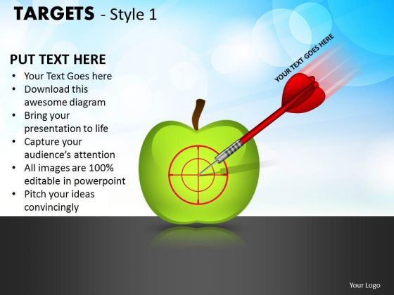 Strategic Management Targets Style 1 Business Cycle Diagram
