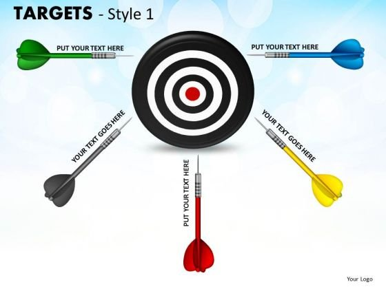 Strategic Management Targets Style 1 Business Diagram