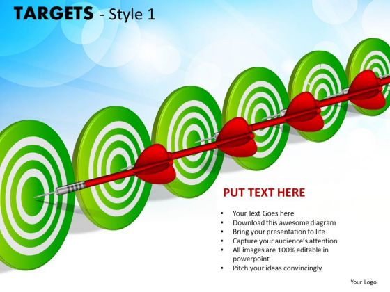Strategic Management Targets Style 1 Sales Diagram