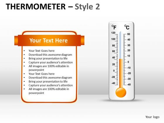 Strategic Management Thermometer Style 2 Marketing Diagram