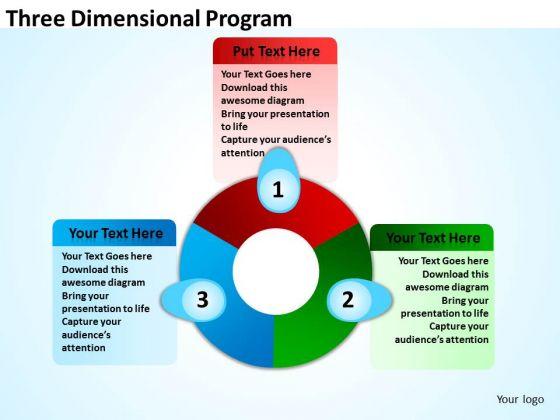 Strategic Management Three Dimensional Program Business Diagram