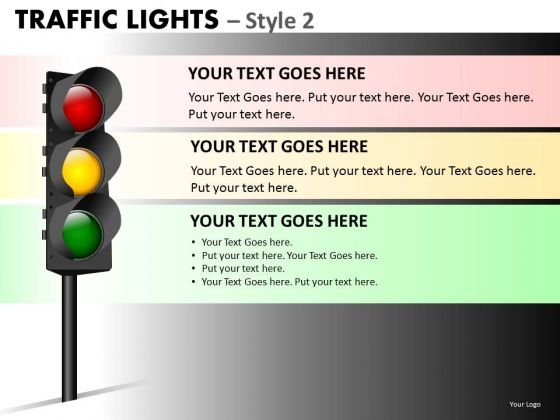 Strategic Management Traffic Lights Marketing Diagram