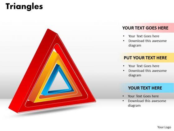 Strategic Management Triangles Sales Diagram