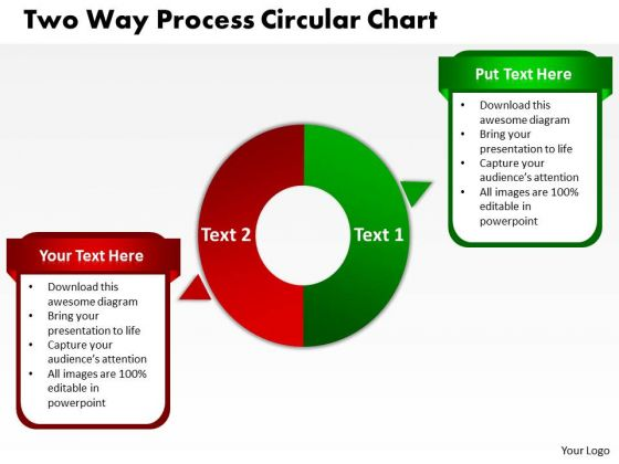 Strategic Management Two Way Process Circular Chart Marketing Diagram